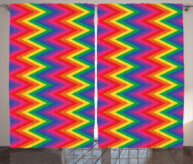 Zickzack-Chevron-Form Vorhang
