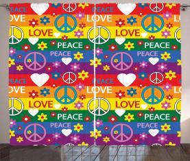 Herz-Friedens-Ikone festlich Vorhang