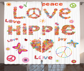 Liebe Hippie Vivid Floral Vorhang