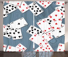 Alte Spielkarten Vorhang