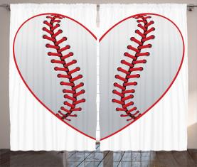 Leidenschaft für Baseballthema Vorhang
