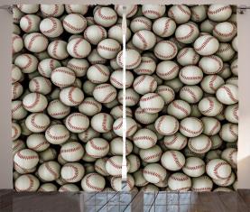 Baseball-Sport-Emblem Vorhang