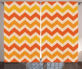 Gewellte geometrische Weinlese Vorhang