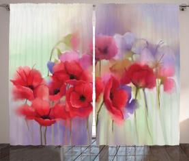 Frühlingsblumen romantisch Vorhang