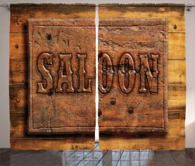 Holzschnitzerei Stil Saloon Vorhang