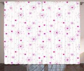 Muster mit Blumen Vorhang