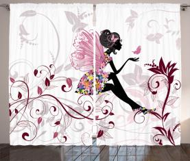 Flower Fairy Schmetterlinge Vorhang