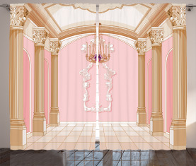 Kronleuchter Decke Schloss Vorhang