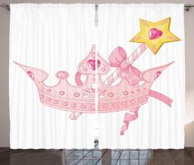 Krone und Zauberstab Vorhang