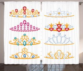 Goldene Edelsteine Tiaras Vorhang