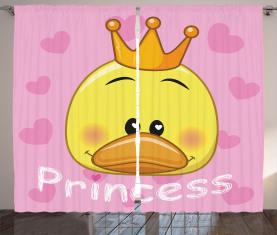 Prinzessin Duck mit Tiara Vorhang