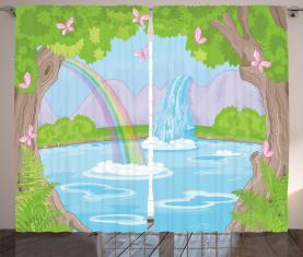 Regenbogen-Schmetterlinge Vorhang