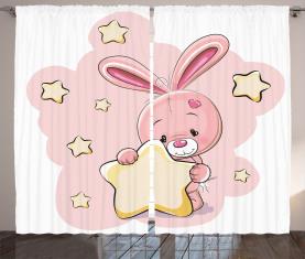 Kaninchen-Häschen mit einem Stern Vorhang