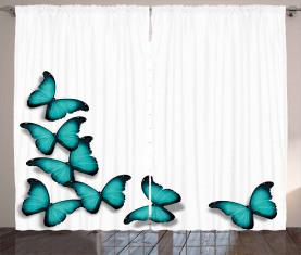 Sunny Schmetterlinge Morphs Vorhang