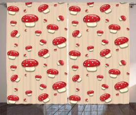 Cartoon Pilze Vorhang