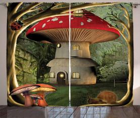 Pilz Magic Forest Vorhang