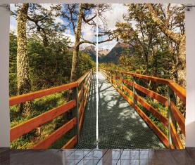 Boardwalk Wald Wandern Vorhang
