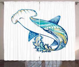Hammerkopfhai Ozean Vorhang