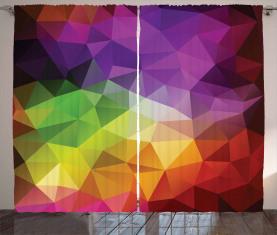 Geometrieform-Polygon Vorhang