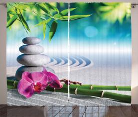 Spa Sand Orchidee Blume Vorhang