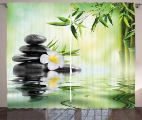 Bambusjapaner Entspannen Vorhang
