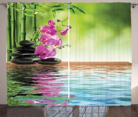 Tropische Orchideenblüte Vorhang