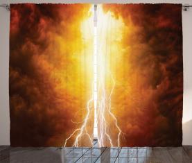 Lebhafter apokalyptischer Tag Vorhang
