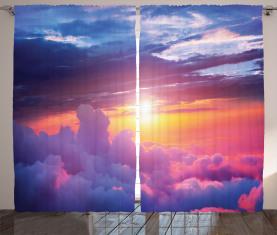 Sonnenuntergang Himmel und Wolken Vorhang