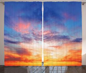 Sonnenuntergang Wolkengebilde Himmel Vorhang