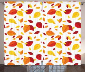 Saisonale Herbstblätter Vorhang