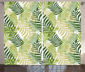 Tropische exotische Palmen Vorhang