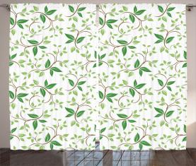 Fancy Ivy Green Blätter Vorhang