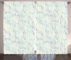 Moderne Blattmuster Vorhang