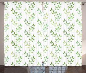 Symmetrische Olivenblätter Vorhang