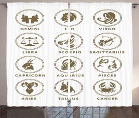 Klassisches Sternzeichen-Diagramm Vorhang