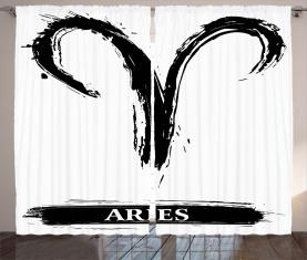 Widder-Astrologie-Zeichen Vorhang