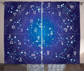 Sternbild Sternzeichen Vorhang