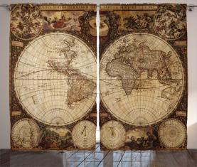 Historischer alter Atlas Vorhang