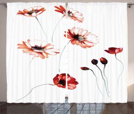 Aquarell Natur Vorhang