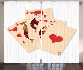 Spielerkönigin Vorhang