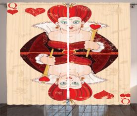 Königin Karten Vorhang