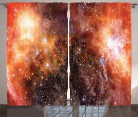 Gaswolke im Weltraum Vorhang