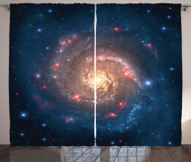 Schwarzer Loch-Kosmos-Raum Vorhang
