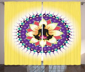 Runde Kreis Lotus Icon Vorhang