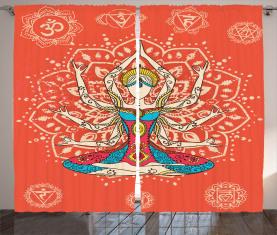 Zen-Disziplin-Kostüm Vorhang