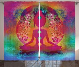 Mystisches Chakra spirituell Vorhang