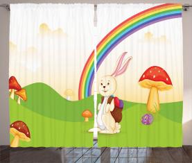 Häschen-Osterei-Kinder Vorhang