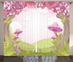 Märchenland Blooms Vorhang