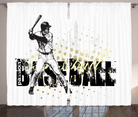 Baseball-Grunge-Batting Vorhang