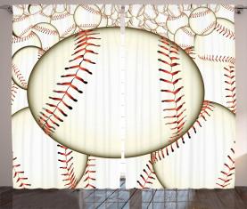 Baseball-Ball-Muster Vorhang